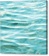 Bright Aqua Water Ripples Canvas Print