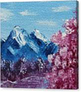 Bright Blue Mountains Canvas Print