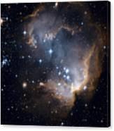 Bright Blue Newborn Stars Blast A Hole Canvas Print