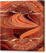 Bright Fantasies Of Delightful Orange Canvas Print