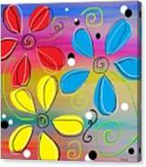 Bright Flowers Intertwined Canvas Print