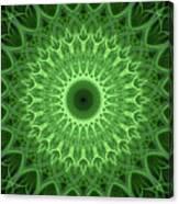 Bright Green Mandala Canvas Print