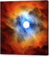 Bright Moon And Dark Clouds Canvas Print