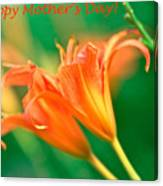 Bright Mother's Day Card Canvas Print