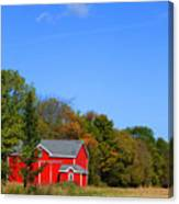 Bright Red Barn Canvas Print
