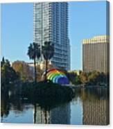 Bright Spot In Downtown Orlando Canvas Print