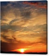 Bright Sundown In Mountains Canvas Print