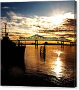Bright Time On The River Canvas Print