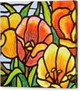 Bright Tulips Canvas Print