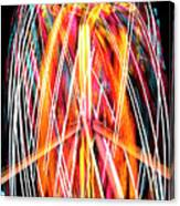 Brightly Colored Abstract Light Painting At Night From The Fireb Canvas Print