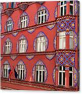 Brightly Colored Cooperative Business Bank Building Or Vurnik Ho Canvas Print