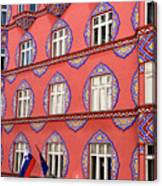 Brightly Colored Facade Of Cooperative Business Bank Building Or Canvas Print