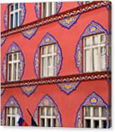 Brightly Colored Facade Vurnik House Or Cooperative Business Ban Canvas Print
