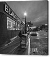 Brighton Ave Packard's Corner Allston Ma Sidewalk Black And White Canvas Print