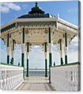 Brighton Seafront Gazebo Canvas Print