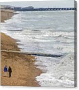 Brighton Shore Canvas Print
