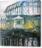 Brighton's West Pier-lone Survivor Canvas Print