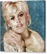 Brigitte Bardot, Actress Canvas Print