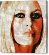Brigitte Bardot By Mary Bassett Canvas Print