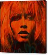 Brigitte Bardot Love Pop Art Canvas Print