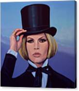 Brigitte Bardot Painting 2 Canvas Print