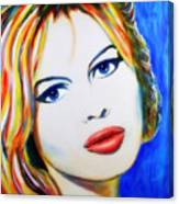 Brigitte Bardot Pop Art Portrait Canvas Print
