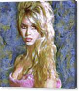 Brigitte Bardot Van Gogh Style Canvas Print