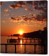 Brilliant Orange Sunset Canvas Print
