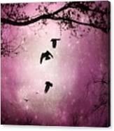 Brilliant Pink Surreal Sky Canvas Print