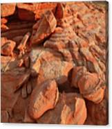 Brilliantly Colored Sandstone At Sunrise In Valley Of Fire Canvas Print