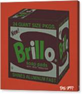 Brillo Box Colored 1 - Warhol Inspired Canvas Print