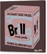 Brillo Box Colored 20 - Warhol Inspired Canvas Print
