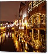 Brindleyplace At Night Canvas Print