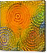 Bring Down Colored Rain Canvas Print