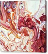 Bringing Into Life Fragment 2. Fluid Acrylic Painting Canvas Print