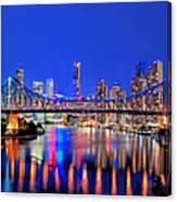 Brisbane In Late Evening Canvas Print