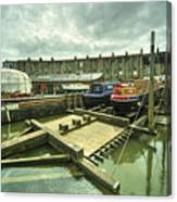 Bristol Barge Dry Dock  Canvas Print