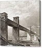 Britannia Bridge Across Menai Strait Canvas Print