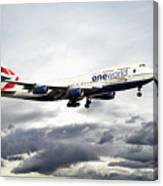 British Airways 747 G-civi Canvas Print