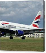 British Airways A318-112 G-eunb Canvas Print