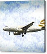 British Airways A319 Feather Design Art Canvas Print