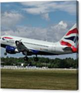 British Airways Airbus A318-112 G-eunb Canvas Print