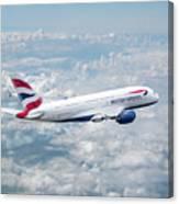 British Airways Airbus A380-841 Canvas Print