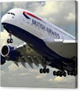 British Airways Airbus A380 Canvas Print