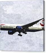 British Airways Boeing 777 Art Canvas Print