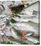 British Fish Market Canvas Print