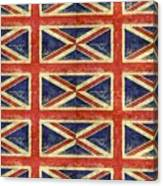 British Flag Collage One Canvas Print
