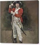British Infantryman C.1777 Canvas Print