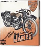 British James Comet Motorcycle  1948 Canvas Print