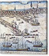 British Ships Of War, Landing Troops Canvas Print
